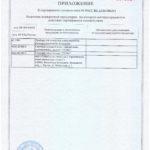 Сертификат соответствия на приборы учета расхода воды и тепла. Приложение